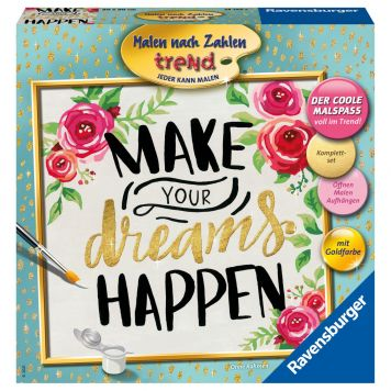 Schilder Op Nummer Make Dreams Vierkant