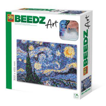 SES BEEDZ ART: Strijkkralen De Sterrennacht