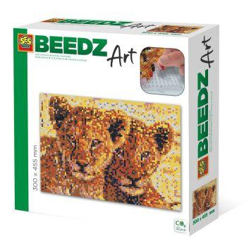 SES BEEDZ ART: Strijkkralen Leeuwenwelpen