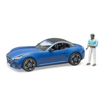 Bruder Auto Roadster Blauw Met Chauffeur