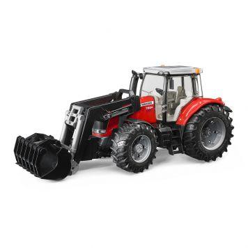Bruder Tractor Massey Fergusen 7624 Met Frontlader