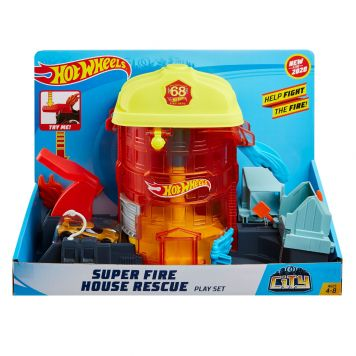 Hot Wheels Super Fire House Rescue Playset