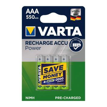 Batterijen AAA 4 Stuks Varta Oplaadbaar