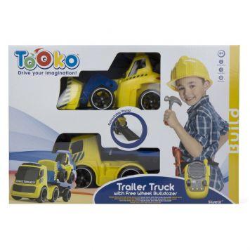 R/C Bulldozer Tooko Trailer Truck