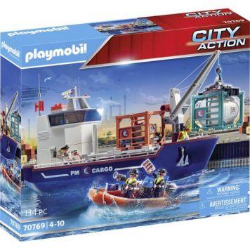Playmobil 70769 Groot Containerschip Met  Douaneboot
