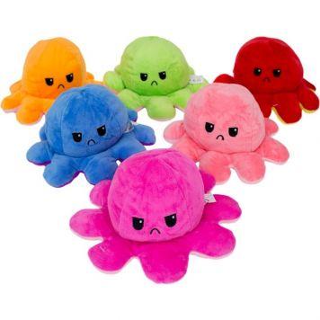 Pluche Octopus Omkeerbaar Assorti