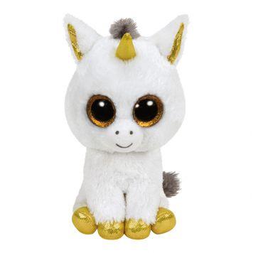 Ty Beanie Witte Eenhoorn Pegasus 15 Cm