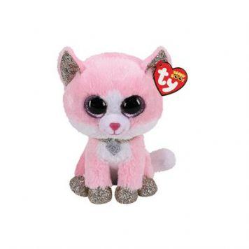Ty Beanie Fiona Pink Cat 15 Cm