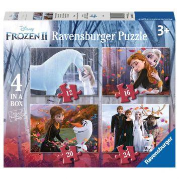 Puzzel Frozen 2 12+16+20+24 Stukjes