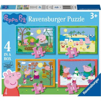 Puzzel Peppa Pig 4 Seizoenen 12+16+20+24 Stukjes