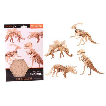 Puzzel Dino 3D 4 Assorti
