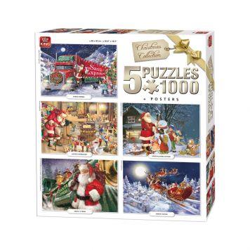 Puzzel 5 in 1 Kerstmis