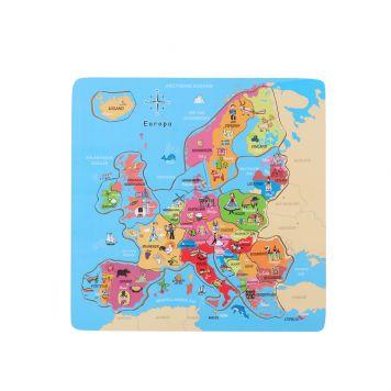 Puzzel Europa Hout 18-delig 30x30 cm