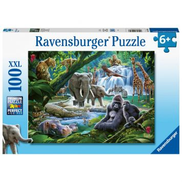 Puzzel Jungle Families 100 Stukjes XXL