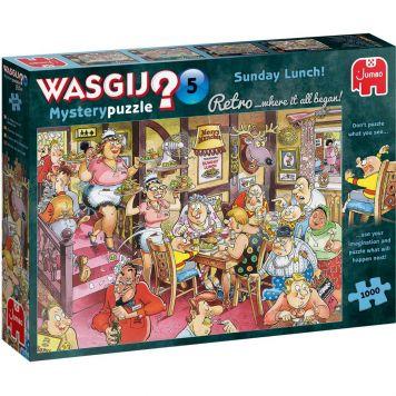 Puzzel Wasgij Retro Mystery 5 Zondagse Lunch  1000 Stukjes