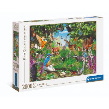 Puzzel High Quality 2000 Stukjes Fantastisch Bos Clementoni