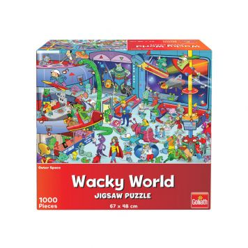 Puzzel Wacky World Outerspace 1000st
