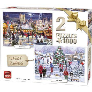 Puzzel 1000 Stukjes Winter 2 In 1