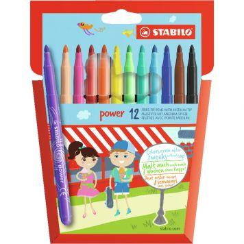 Viltstiften Stabilo Power Stiften 12 Stuks