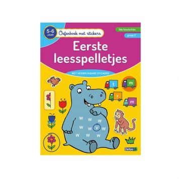 Oefenboek Stickers Leesspel 5-6 Jaar