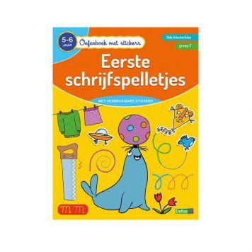 Oefenboek Stickers Schrijfspel 5-6 Jaar