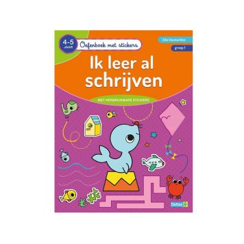Oefenboek Stickers Schrijven 4-5 Jaar