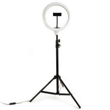 Selfie Ringlamp 26 Cm Met Statief 210Cm