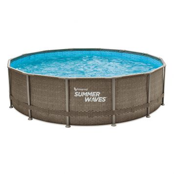 Summer Waves Zwembad Elite Frame 427 X 107 cm Dark Triple Basketweave+filterpomp
