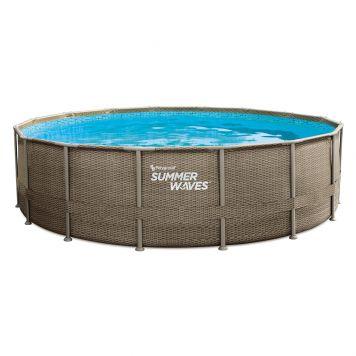 Summer Waves Zwembad Elite Frame 488 X 122 cm Dark Triple Basketweave