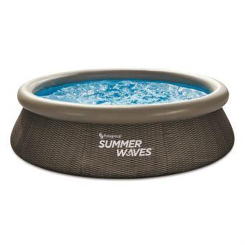 Summer Waves Zwembad Quick Set 305 X 76 cm Dark Double Rattan + filterpomp