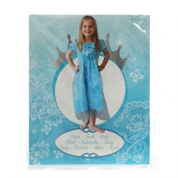 Kleding Prinsessen Jurk Lang Blue 5-7 jaar