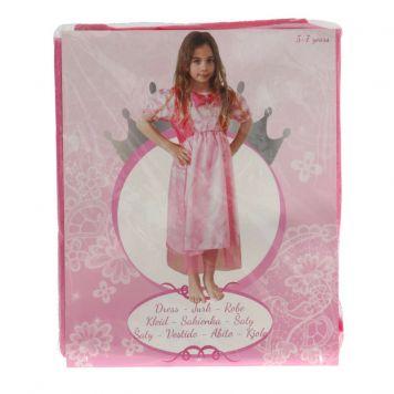 Prinsessen Jurk Lang Pink 5-7 Jaar